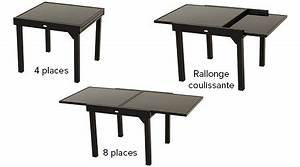 Table A Rallonge Pour 16 Personnes : table de jardin hesp ride extensible piazza 4 8 places jardideco ~ Teatrodelosmanantiales.com Idées de Décoration