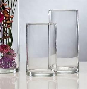 Glasvase 60 Cm Hoch : glasvase vase glas blumenvase tischvase zylinder 25 cm k chenfertig ~ Bigdaddyawards.com Haus und Dekorationen