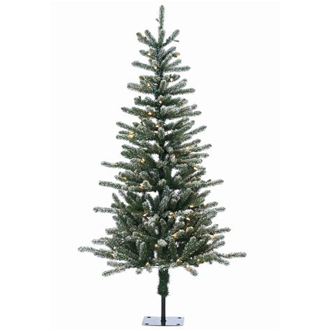 5 ft pre lit bridgeport pine artificial tree