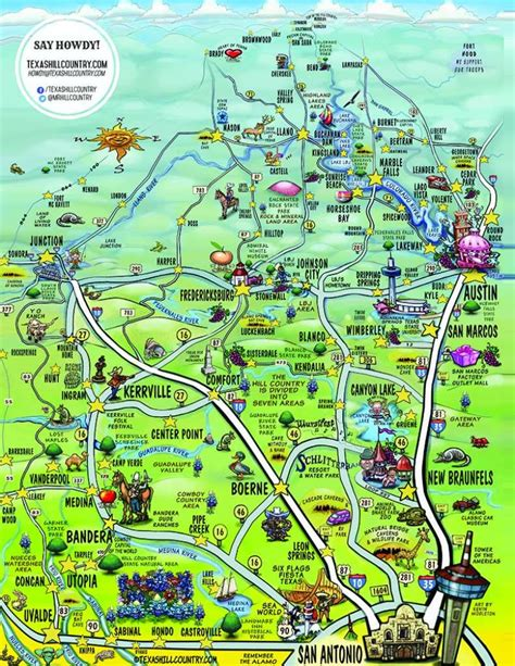 cool map   hill country captures  essence