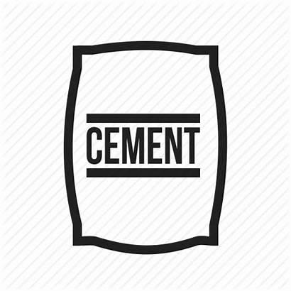 Cement Icon Bag Construction Concrete Material Raw