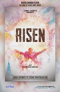 Risen church flyer 9210451 free download photoshop vector stock image via torrent zippyshare for Church flyer psd