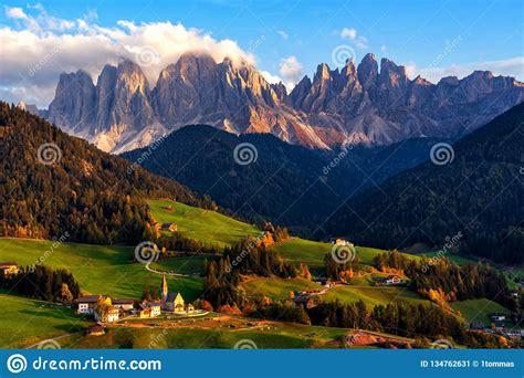 Santa Maddalena Village With Magical Dolomites Mountains