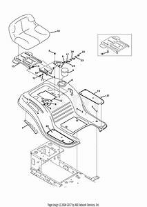 Mtd 13an785s001  2013  Parts Diagram For Seat  U0026 Fender