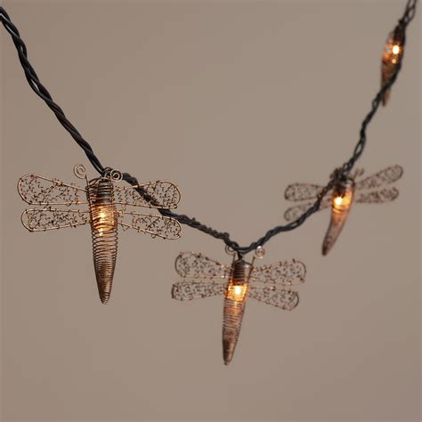 dragonfly outdoor string lights copper dragonfly 10 bulb string lights world market