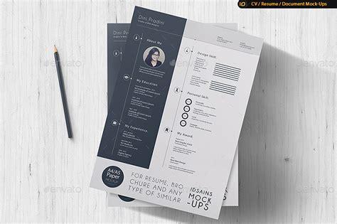 Mock Up Resumes cv resume mock up by idsains graphicriver