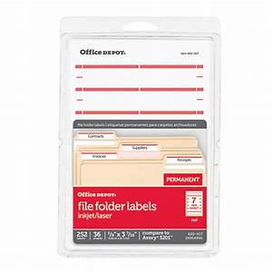 office depot brand print or write color permanent With colored file folder labels
