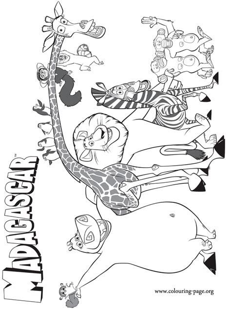 madagascar madagascar  coloring page