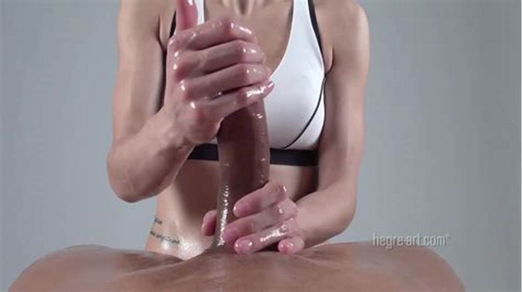 #Woman #Give #Massage #Handjob