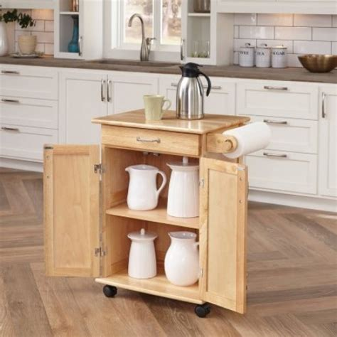 small kitchen island table rolling wheeled natural solid