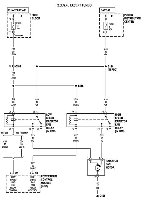 1997 Chrysler Distributor Wiring Schematic by I Need Wiring Diagram For 2003 Pt Cruiser For Fan Motor