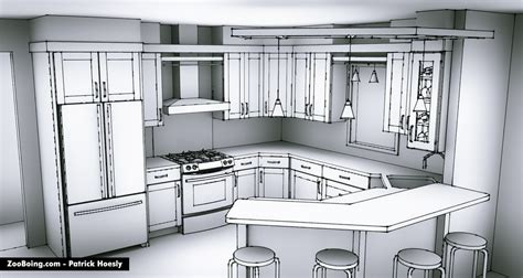 home interior design for kitchen sketchy kitchen renderings zooboing illustrations