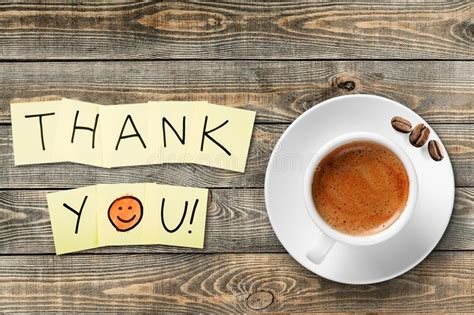 Coffee Cup And Thank You Note On Wooden Stock Photo Best Iced Coffee Starbucks Drinks Black Nutrition News Sydney Lexington Sc Vanilla Review High Octane Baker City Vending Machine State Diagram Yesterday
