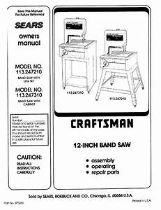 Craftsman 113 2472t0 User Manual