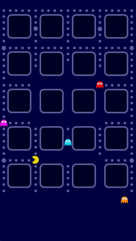 Pac Man Iphone 5 App Skins Wallpaper  Cool Wallpapers And