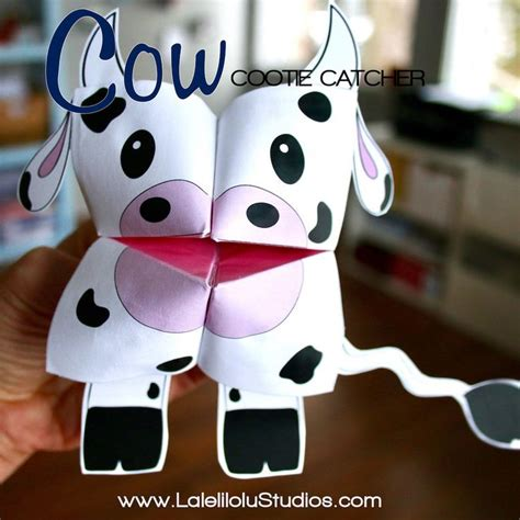 printable farm animals cootie catchers
