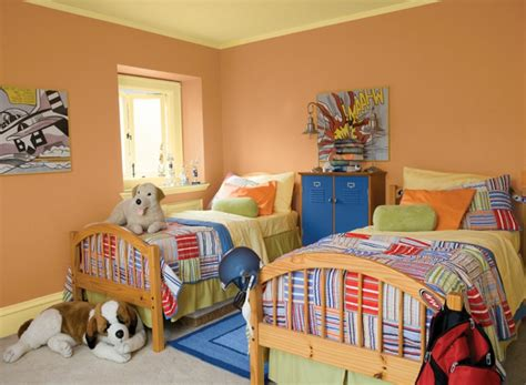 childrens bedroom colors wandfarbe apricot warm und gem 252 tlich 11094 | kids bedroom exquisite kid bedroom decoration using yellow kid bedroom paint color schemes including orange wood single bed frame and yellow orange bedroom wall paint interesting design ideas for kid
