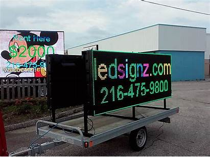 Led Sign Rental Trailer Portable Digital Screen