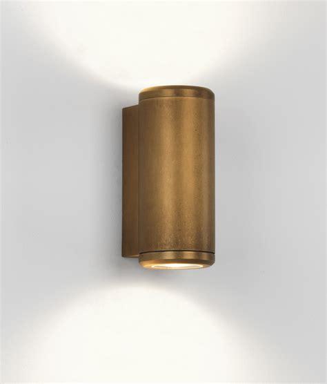 coastal wall light  antique brass  nickel finish