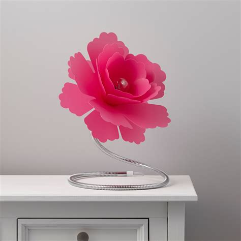 paloma flower fuchsia table lamp departments diy  bq