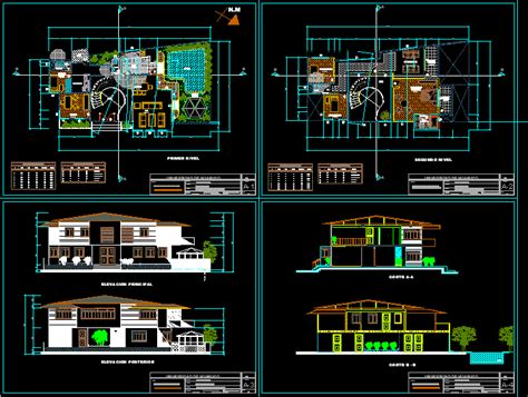 country house  dwg design section  autocad designs cad