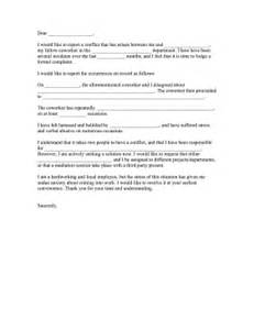 plaint Letter Against Coworker