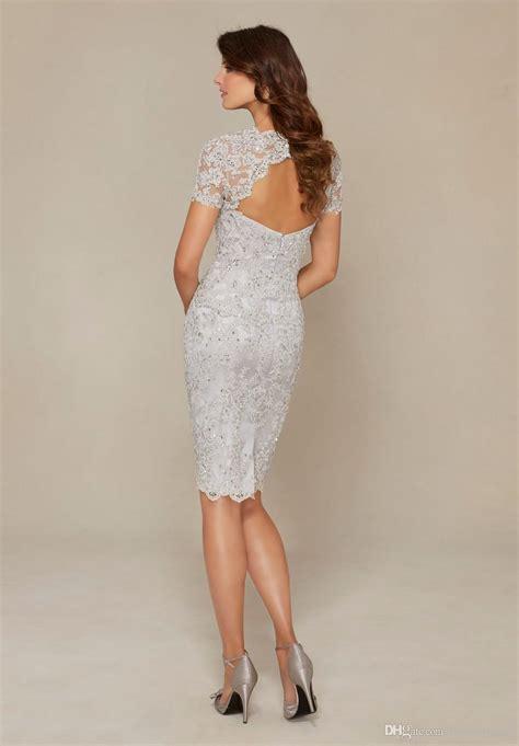 navy blue silver mother   bride dresses elegant