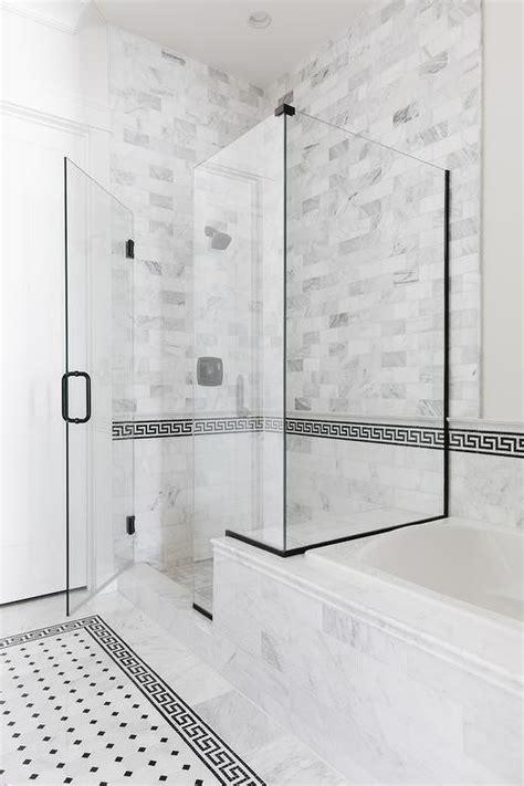 greek key tiles transitional bathroom muse interiors