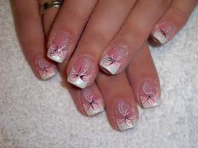 French acrylic nails design nail art and tattoo ideas for