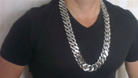 heavy stainless steel necklace chain  mm wide