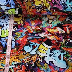 Stoffe Günstig Kaufen : jersey stoff graffiti bunt digitaldruck g nstig kaufen ~ Orissabook.com Haus und Dekorationen