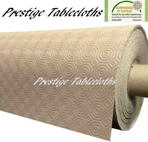 Beige Table Protector Heat Resistant Anti Slip ALL SIZES