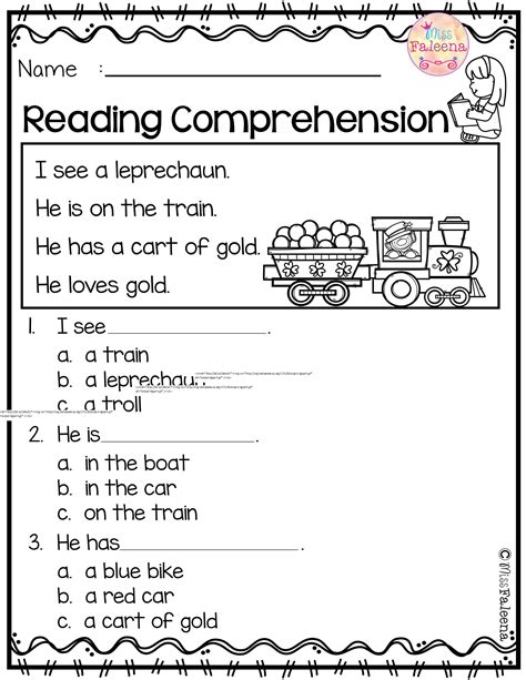 march reading comprehension kinder reading comprehension