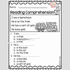 March Reading Comprehension  Kinder Reading Comprehension  Reading Comprehension Worksheets