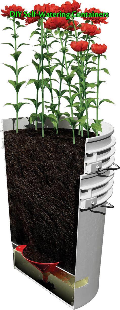 self watering planters diy diy self watering containers