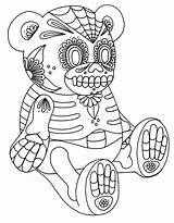 Skull Coloring Sugar Pages Print Printable Adults Intricate Dead sketch template