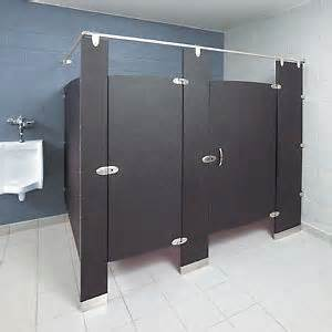 Bathroom Stall Dividers Material by Floor Mounted Overhead Braced Bathroom Partitions