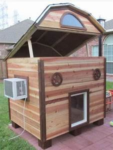 25 best ideas about custom dog houses on pinterest With large dog house with ac