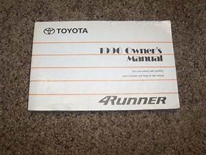 1996 Toyota 4runner Owner User Guide Manual Sr5 Limited 2