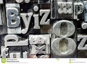 printing press typeset typography text letters stock image With old printing press letters