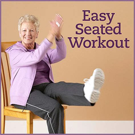 seated flexibility cardio strength workout foot