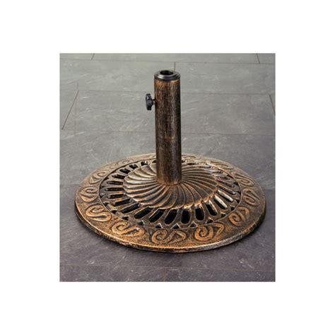 pied de parasol en fonte couleur bronze