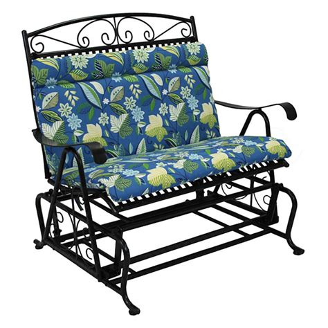 Patio Loveseat Glider Cushions by Blazing Needles Outdoor Loveseat Glider Cushion 40 X 43