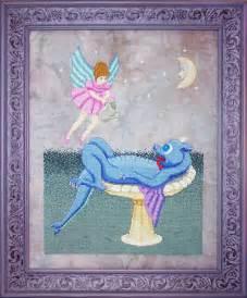 bath time dragons  fairies cross stitch pattern whimsy