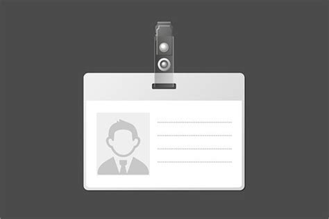 id badge templates psd vector eps  premium