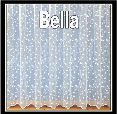 pretty floral white net curtains drop sizes 27 quot to