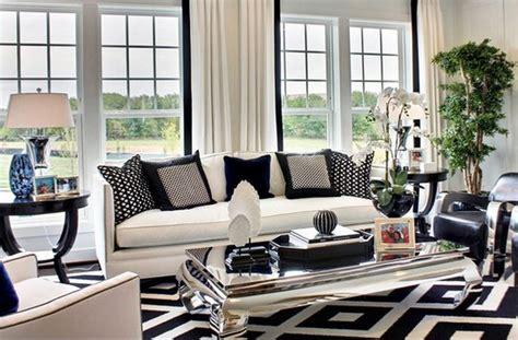 idee deco salon noir et blanc deco maison moderne