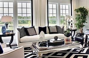 idee deco salon noir et blanc deco maison moderne With deco en noir et blanc