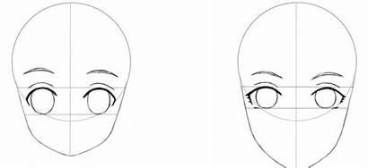 Anime Ojos Mujer Cejas Dibujamos Paso Rostro