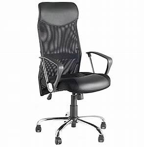 Chaise De Bureau Moderne : fauteuil de bureau moderne roma noir en mati re ~ Teatrodelosmanantiales.com Idées de Décoration